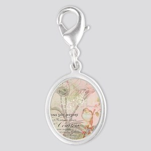 Pink bird floral Charms