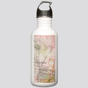 Pink bird floral Stainless Water Bottle 1.0L