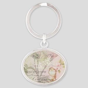 Pink bird floral Keychains