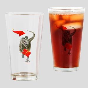 Santasaurus Drinking Glass