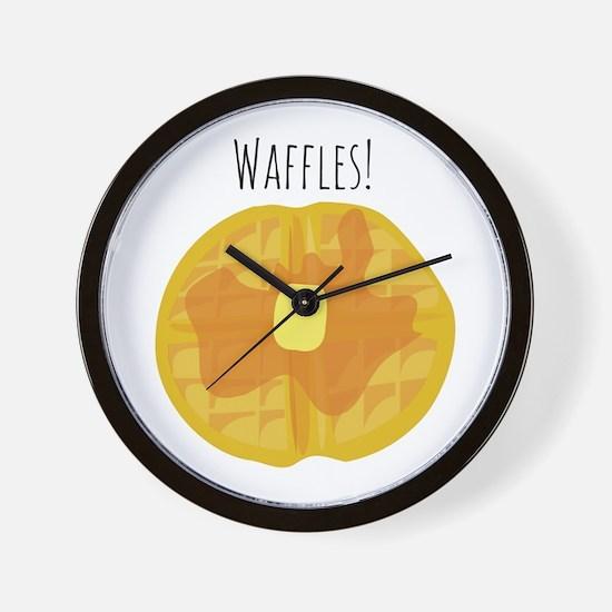 Waffles! Wall Clock