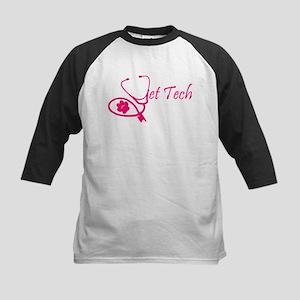 vet tech stethoscope pink Baseball Jersey