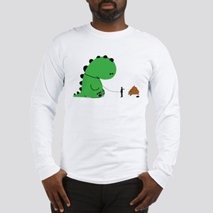 Stop pooping on people Long Sleeve T-Shirt