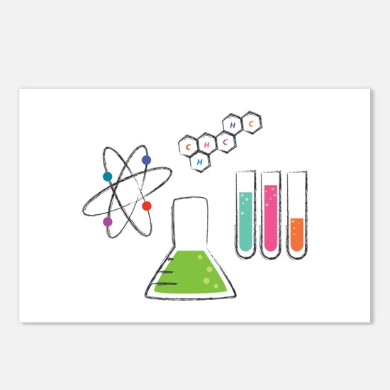 Chemistry Atoms Postcards (Package of 8)