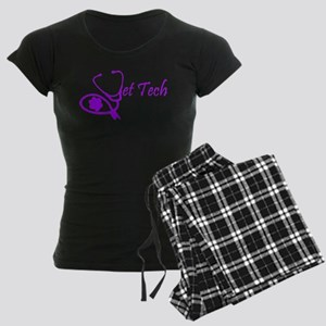 vet tech stethoscope design Women's Dark Pajamas