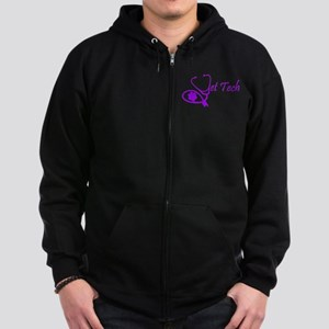 vet tech stethoscope design Zip Hoodie (dark)