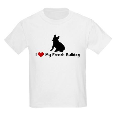 I Love My French Bulldog Kids Light T-Shirt