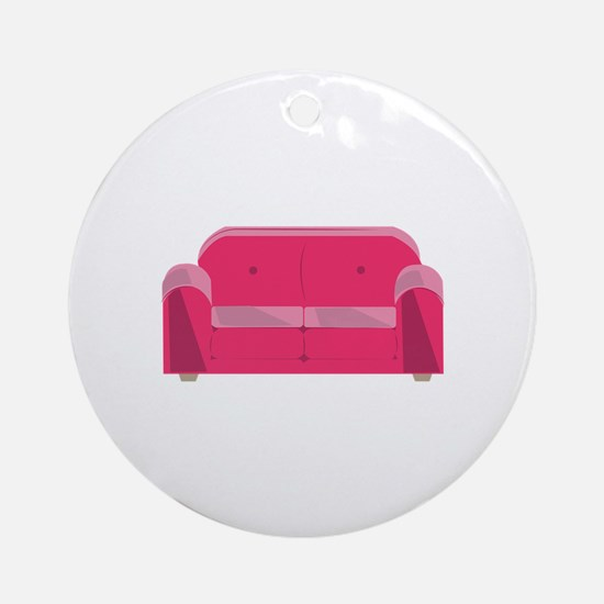 Home Couch Ornament (Round)