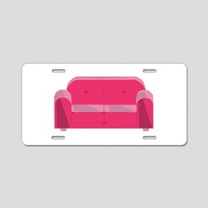 Home Couch Aluminum License Plate
