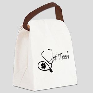 stethoscope vet tech design Canvas Lunch Bag