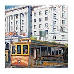 San Francisco Cable Car Tile Coaster