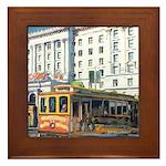 San Francisco Cable Car Framed Tile