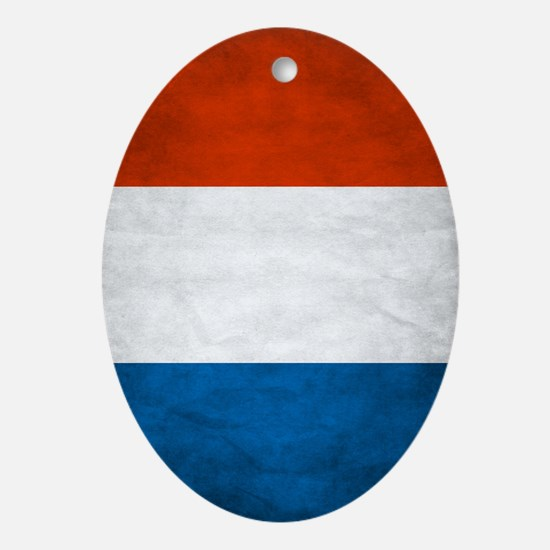 Vintage French Flag Ornament (Oval)