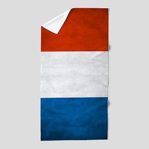 Vintage French Flag Beach Towel