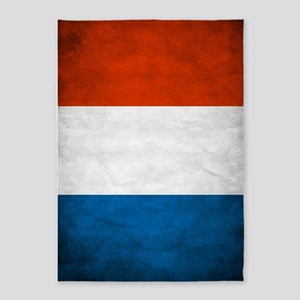 Vintage French Flag 5'x7'Area Rug