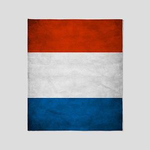 Vintage French Flag Throw Blanket