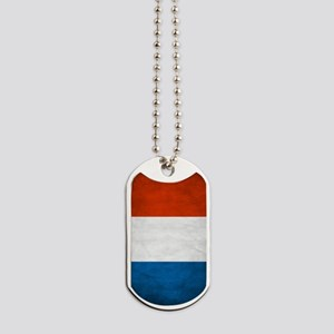Vintage French Flag Dog Tags