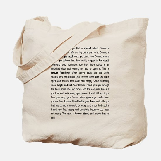 Forever has no end Tote Bag