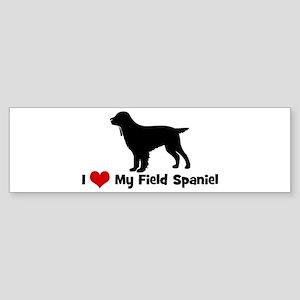 I Love My Field Spaniel Bumper Sticker