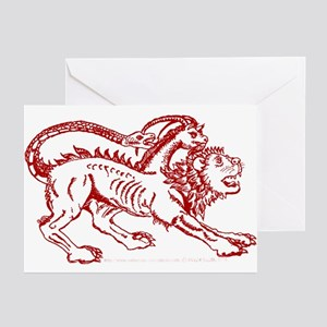 Rusty Arezzo Chimera Greeting Cards (Pk of 10)