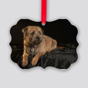 Border Terrier Digitally Painted, Picture Ornament