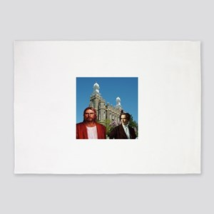 Joseph Smith and jesus infront of the logan temple