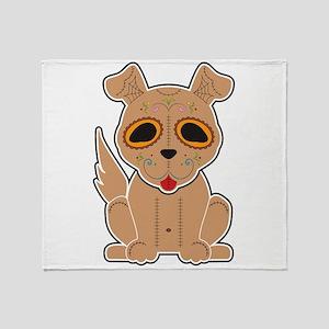 Sugar Puppy - Color Throw Blanket