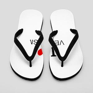 I Love Veganism Flip Flops