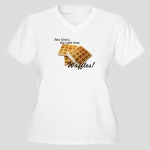 Waffles Women's Plus Size V-Neck T-Shirt