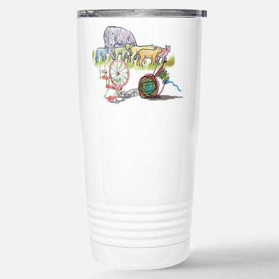 Cute Knitting sheep Travel Mug