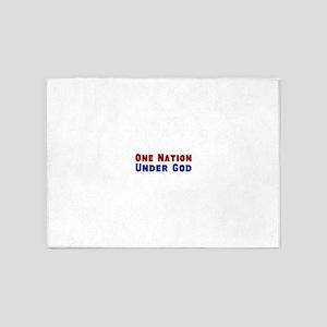 One Nation Under God 5'x7'Area Rug