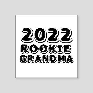 "2018 Rookie Grandma Square Sticker 3"" x 3"""