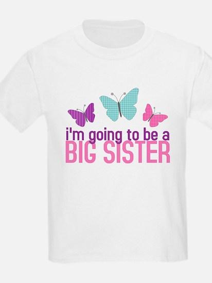 Cute Butterfly little big sister T-Shirt