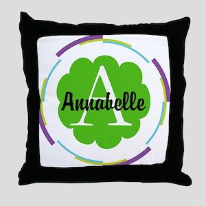 Personalized Monogram Gift Throw Pillow