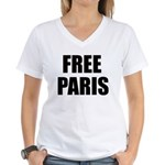 Free Paris Women's V-Neck T-Shirt