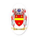 Hernshaw Oval Car Magnet