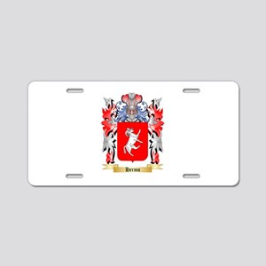 Herms Aluminum License Plate