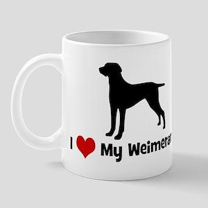 I Love My Weimeraner Mug