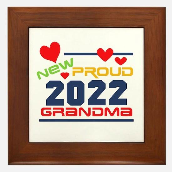 2017 Proud New Grandma Framed Tile