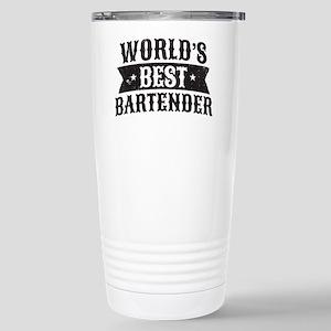 World's Best Bartender Stainless Steel Travel Mug