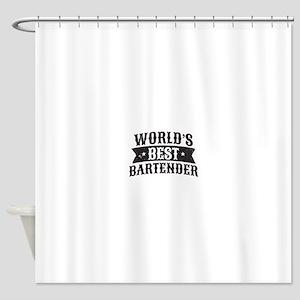 World's Best Bartender Shower Curtain
