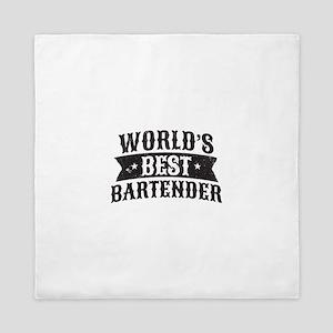 World's Best Bartender Queen Duvet