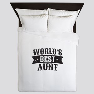 World's Best Aunt Queen Duvet