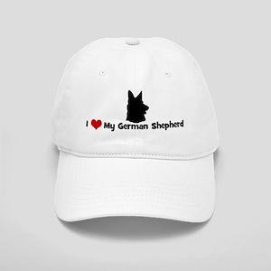 I Love My German Shepherd Cap