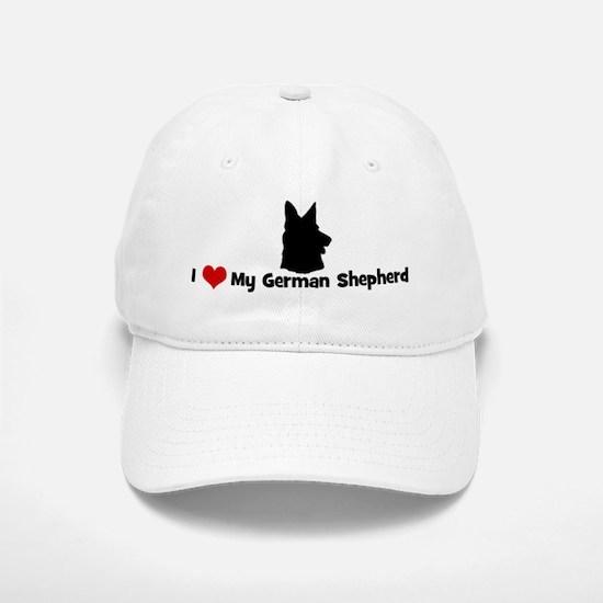 I Love My German Shepherd Baseball Baseball Cap