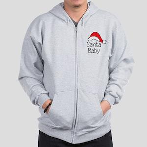 Santa Baby Zip Hoodie