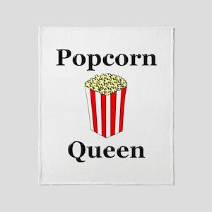 Popcorn Queen Throw Blanket