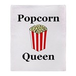 Popcorn Queen Throw Blanket