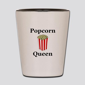 Popcorn Queen Shot Glass