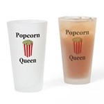 Popcorn Queen Drinking Glass
